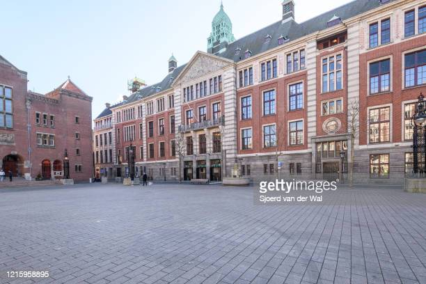 Euronext Amsterdam stock exchange located at Beursplein 5 in Amsterdam during a weekday morning following the advice of the Dutch government to stay...