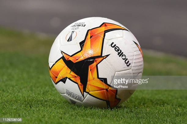 Europa League Ball during the UEFA Europa League match between SSC Napoli and RB Salzburg at Stadio San Paolo Naples Italy on 7 March 2019