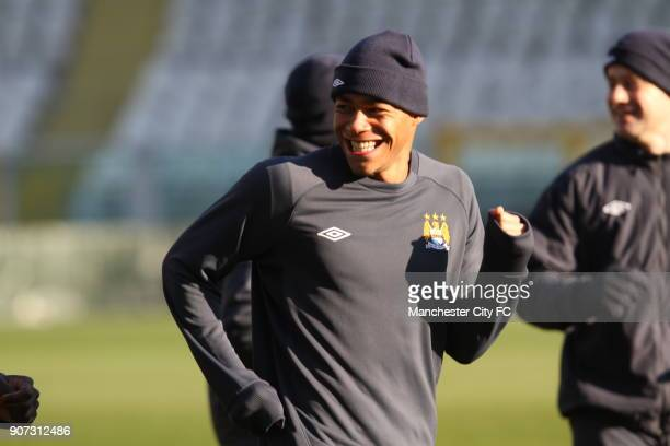 Europa League Group A Juventus v Manchester City Manchester City Training Stadio Olimpico Manchester City's Reece Wabara during a training session at...