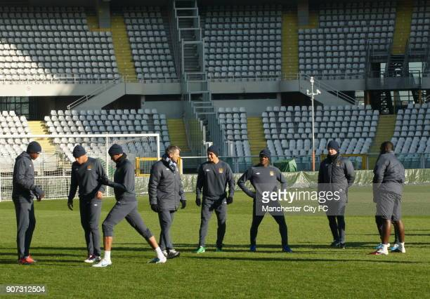 Europa League Group A Juventus v Manchester City Manchester City Training Stadio Olimpico Manchester City players during a training session at the...
