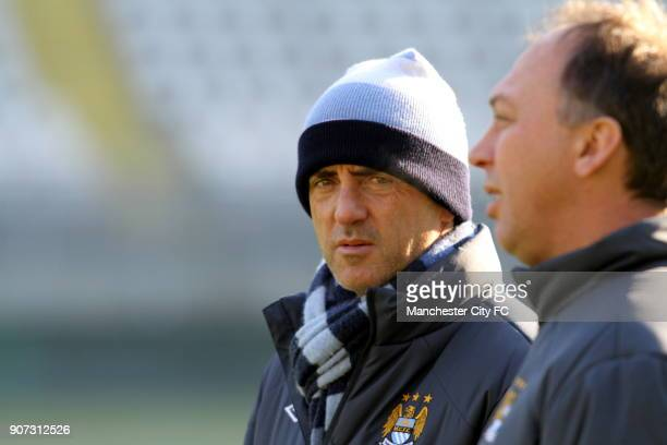 Europa League Group A Juventus v Manchester City Manchester City Training Stadio Olimpico Manchester City manager Roberto Mancini during a training...