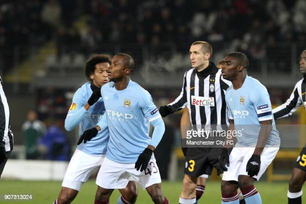 Europa League Group A Juventus v Manchester City Stadio Olimpico Manchester City in action against Juventus