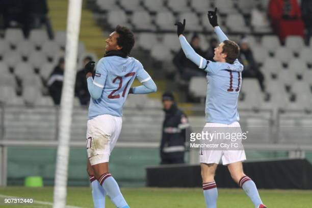 Europa League Group A Juventus v Manchester City Stadio Olimpico Jo celebrates after scoring Manchester City's equalising goal