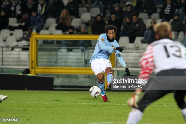 Europa League Group A Juventus v Manchester City Stadio Olimpico Manchester City's Jo crosses the ball