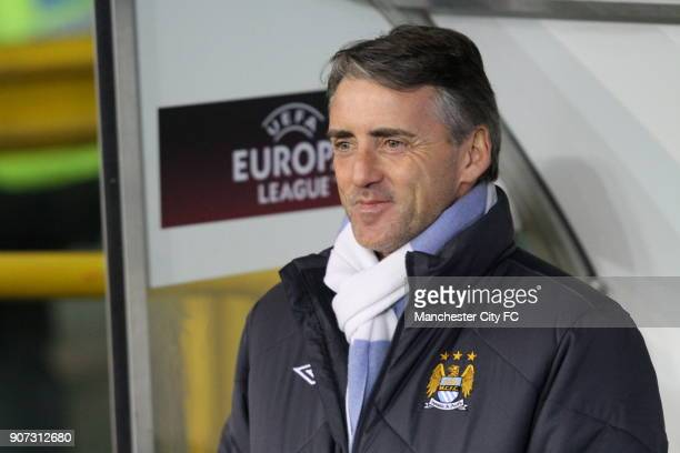 Europa League Group A Juventus v Manchester City Stadio Olimpico Manchester City manager Roberto Mancini