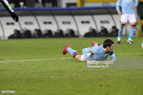 Europa League Group A Juventus v Manchester City Stadio Olimpico Manchester City's Adam Johnson lies on the floor