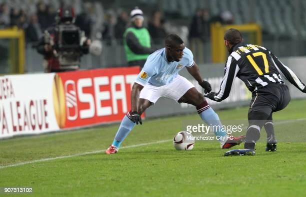 Europa League Group A Juventus v Manchester City Stadio Olimpico Manchester City's Micah Richards takes on Juventus' Armand Traore