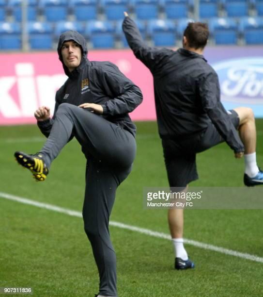 Europa League Group A Lech Poznan V Manchester City Training Citys Gareth Barry