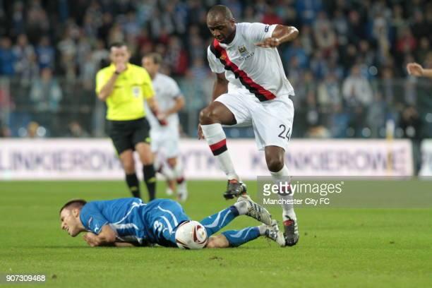Europa League Group A Lech Poznan V Manchester City Stadion Miejski Citys Patrick Vieira Skips