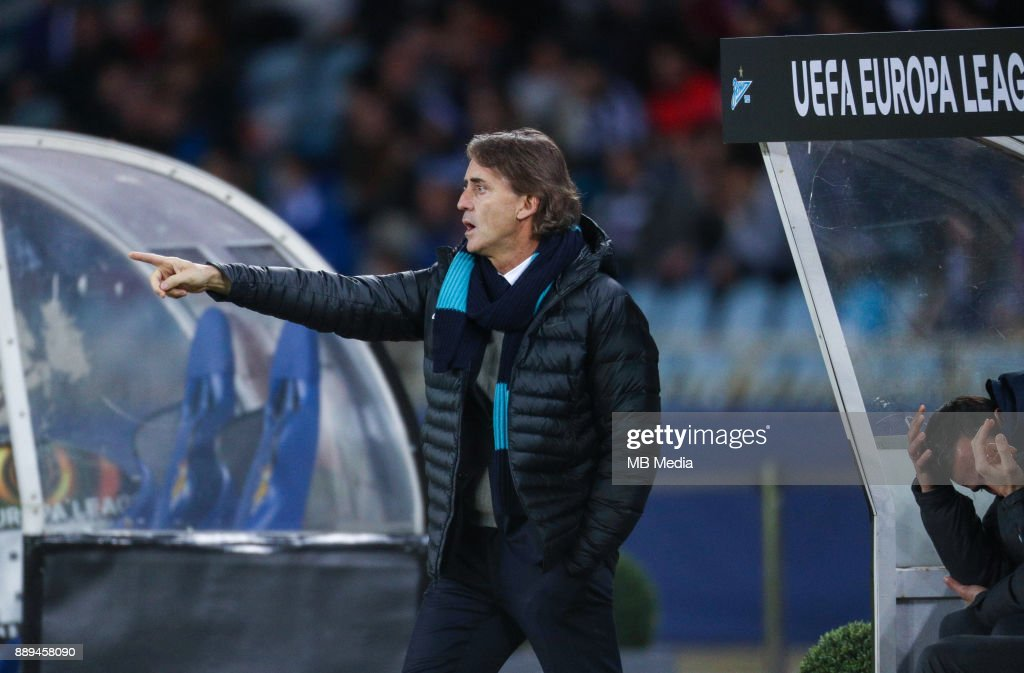 Europa League Group L Round 6 football match: Real Sociedad (San Sebastian) - Zenit (St Petersburg) 1 - 3. Zenit St Petersburg's head coach Roberto Mancini.