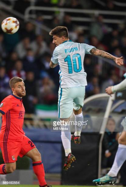 Europa League Group L Round 6 football match Real Sociedad Zenit 1 3 Real Sociedad's Diego Kevin Rodrigues and Zenit St Petersburg's Emiliano Rigoni