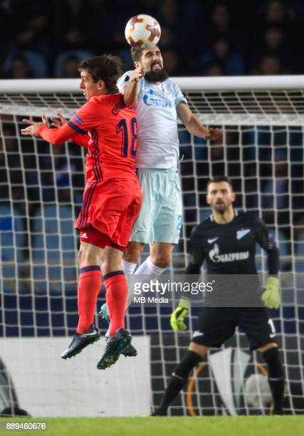 Europa League Group L Round 6 football match Real Sociedad Zenit 1 3 Real Sociedad's Mikel Oyarzabal Ugarte against Zenit St Petersburg's Miha Mevlya