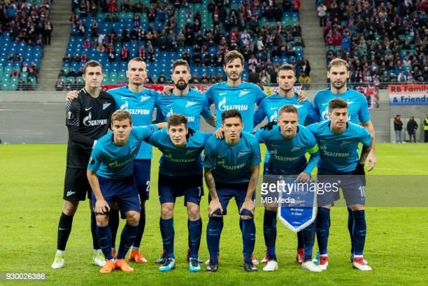 Europa League Round of 16 First leg Football match at RB Arena RB Leipzig 2 1 Zenit Zenit team Aleksander Kokorin Daler Kuzyaev Matias Kranevitter...