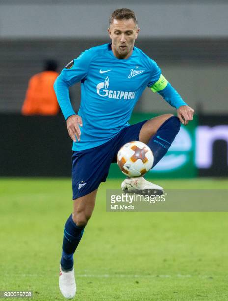 Europa League Round of 16 First leg Football match at RB Arena RB Leipzig 2 1 Zenit Zenit St Petersburg's Domenico Criscito