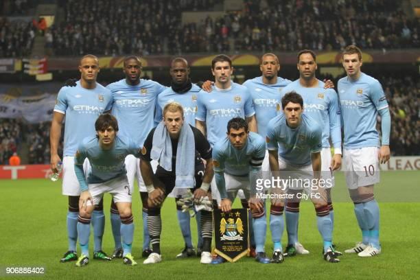 Europa League Round of 32 Second Leg Manchester City v Aris Thessaloniki City of Manchester Stadium Manchester City team group Vincent Kompany Yaya...