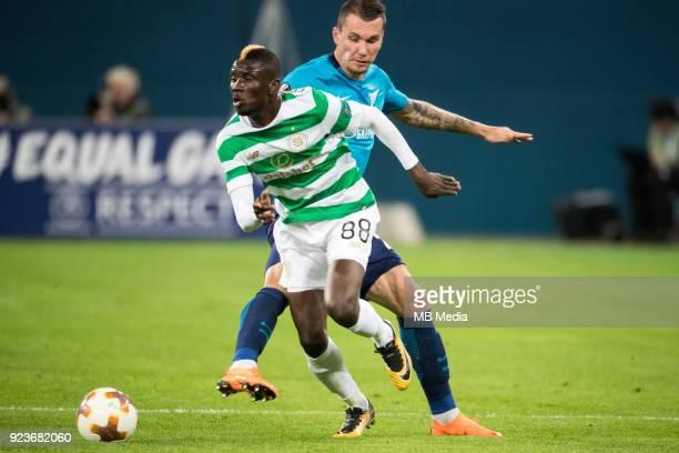 Zenit St Petersburg 3 0 Celtic FC Celtic's Eboue Kouassi and Zenit St Petersburg's Anton Zabolotny