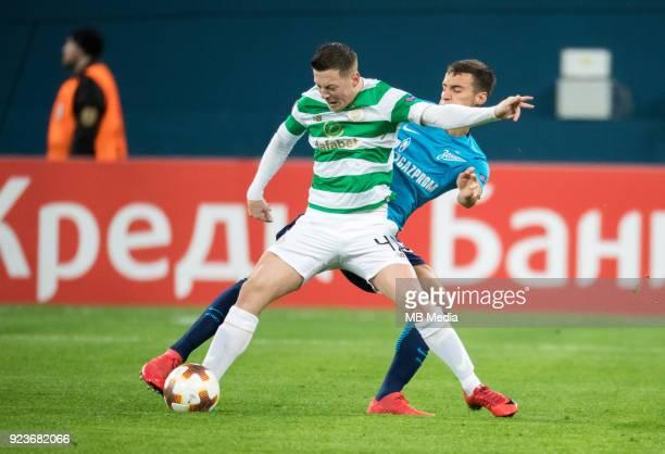 Zenit St Petersburg 3 0 Celtic FC Celtic's Callum McGregor and Zenit St Petersburg's Emanuel Mammana