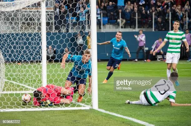 Zenit St Petersburg 3 0 Celtic FC Celtic's goalkeeper Dorus de Vries and Zenit St Petersburg's Aleksander Kokorin