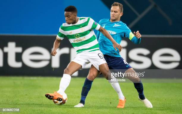 Zenit St Petersburg 3 0 Celtic FC Celtic's Charles Musonda and Zenit St Petersburg's Domenico Criscito