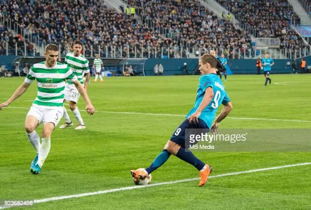 Zenit St Petersburg 3 0 Celtic FC Celtic's Jozo Simunovic and Zenit St Petersburg's Aleksander Kokorin