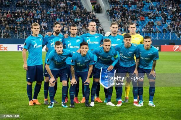 Zenit St Petersburg 3 0 Celtic FC Zenit St Petersburg's team Daler Kuzyaev Matias Kranevitter Domenico Crisscito Emiliano Rigoni Leandro Paredes...