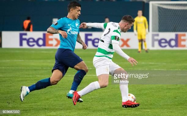 Zenit St Petersburg 3 0 Celtic FC Zenit St Petersburg's Leandro Paredes and Celtic's Callum McGregor