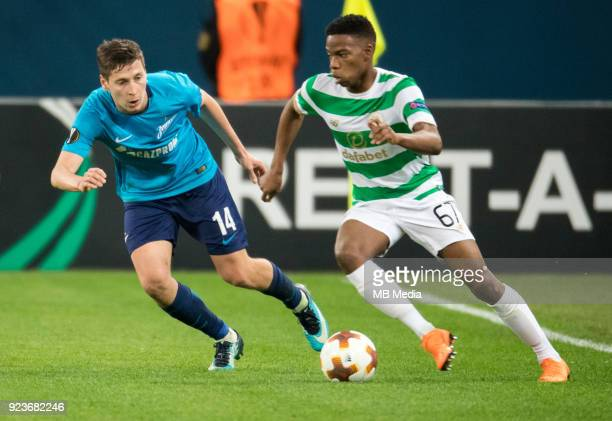 Zenit St Petersburg 3 0 Celtic FC Zenit St Petersburg's Daler Kuzyaev and Celtic's Charles Musonda