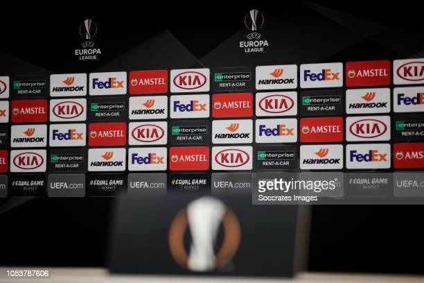 Europa League sponsors during the UEFA Europa League match between Anderlecht v Fenerbahce at the Constant Vanden Stock Stadium on October 25, 2018...