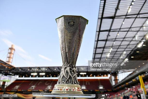 Europa League Trophy during the UEFA Europa League match between Internazionale v Sevilla at the Stadion Köln on August 21, 2020 in Cologne Germany