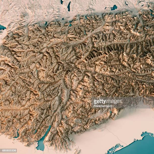 europaregion tirol-südtirol-trentino 3d render topographic map neutral - frank ramspott stock pictures, royalty-free photos & images