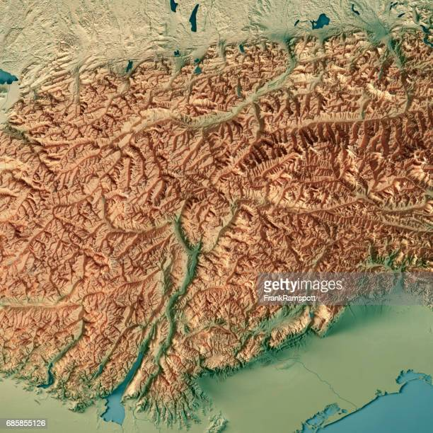 europaregion tirol-südtirol-trentino 3d render topographic map - frank ramspott stock pictures, royalty-free photos & images