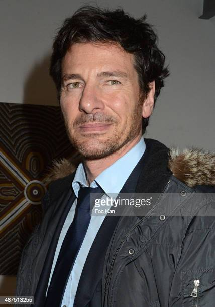 Europe 1 journalist Alexandre Kara attends the '3 Events in 1 Night' Galerie Art Roch Launch Party At Galerie Art Roch on February 6 2014 in Paris...