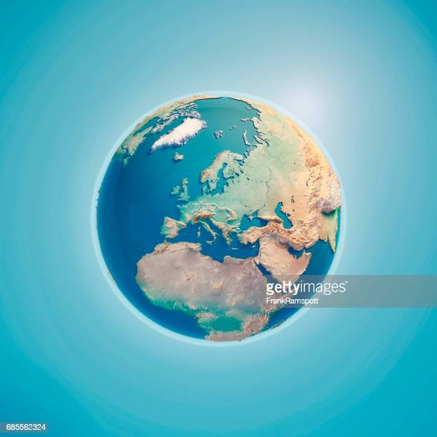 Europe 3D Render Planet Earth