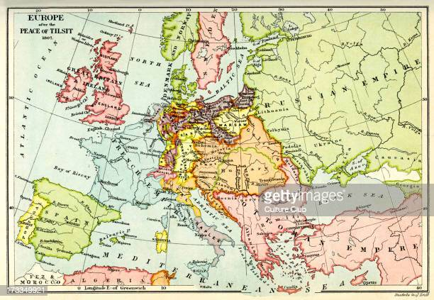 Europe after the Peace ofTilsit The Peace of Tilsit was signed between Russia and France