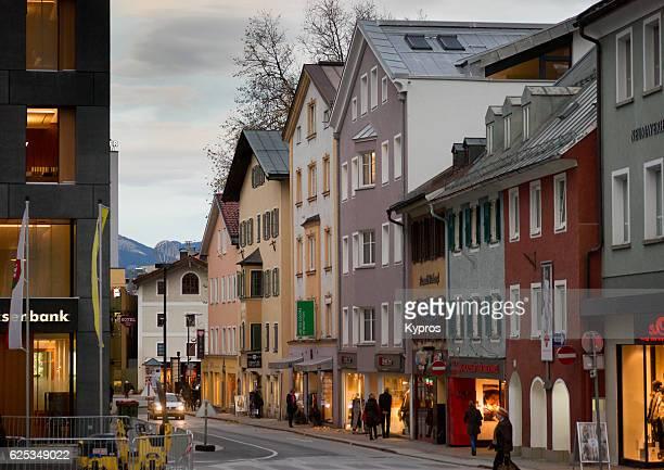 Europe, Austria, Tyrol, Kufstein, View Of New Town Shopping Area