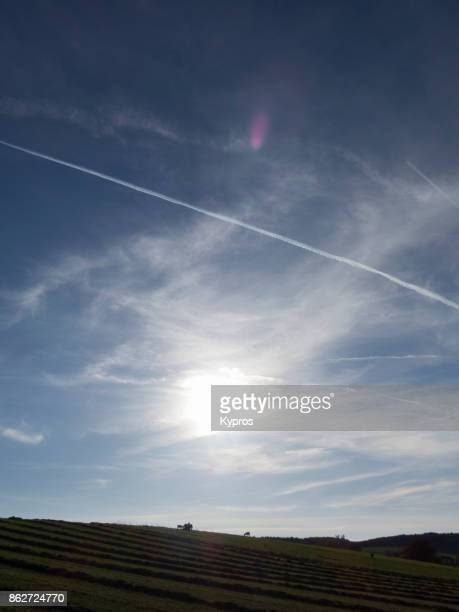 2017 - Europe, Austria, Upper Austria Area, View Of Chemtrails Or Skytrails (Depending On Your Point Of View And Knowledge)