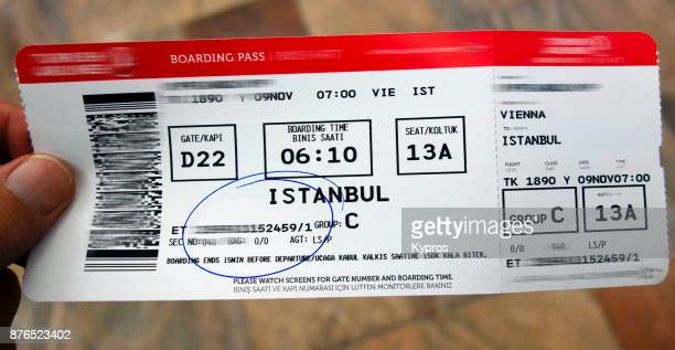Europe, Austria, Vienna (Wien) Area, 2017: View Of Passenger Airline Boarding Pass To Istanbul, Turkey