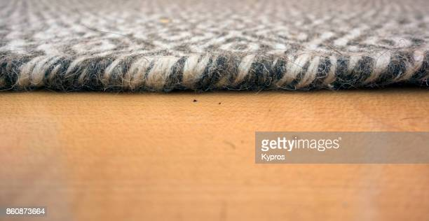 2017 - Europe, Austria, View Of Carpet On Wooden Floor, Close Up