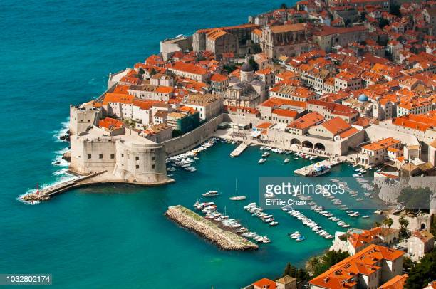 europe, croatia, dubrovnik neretva shire, dalmatian coast, dubrovnik, the old town - adriatic sea stock pictures, royalty-free photos & images