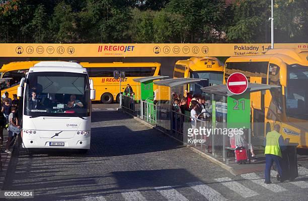 Europe, Czech Republic, Prague, View Of Bus