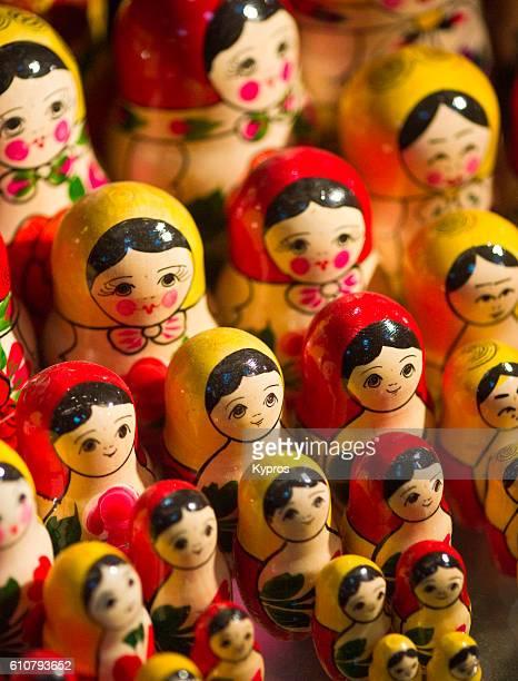 Europe, Czech Republic, Prague, View Of Russian Dolls Or Matryoshka Doll