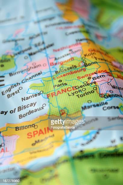 l'europe détail - carte france photos et images de collection