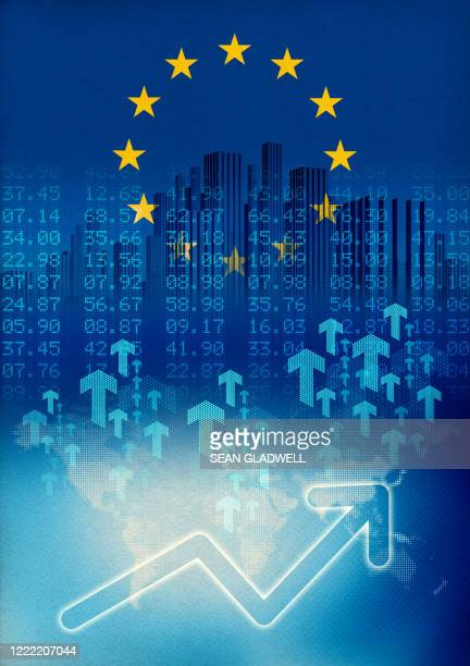 europe economic growth illustration - european union stock pictures, royalty-free photos & images