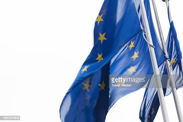 europe flag in brussels, belgium  - european union flag stock photos and pictures