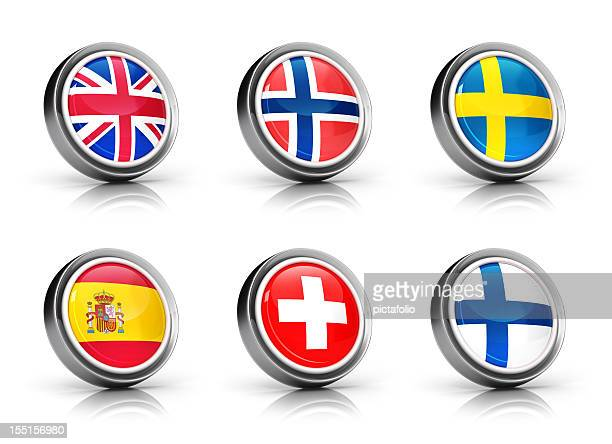 Europe Flags icon set