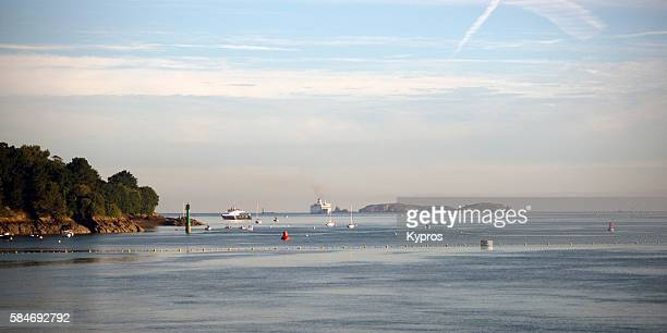Europe, France, Brittany, St Malo Area, View Of Seaside Cove