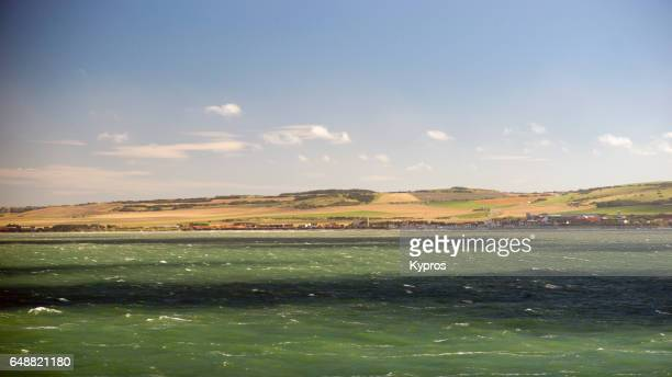 Europe, France, Calais, View Of French Coast With English Channel Or North Sea