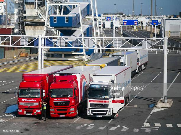 europe, france, calais, view of port - calais stock pictures, royalty-free photos & images