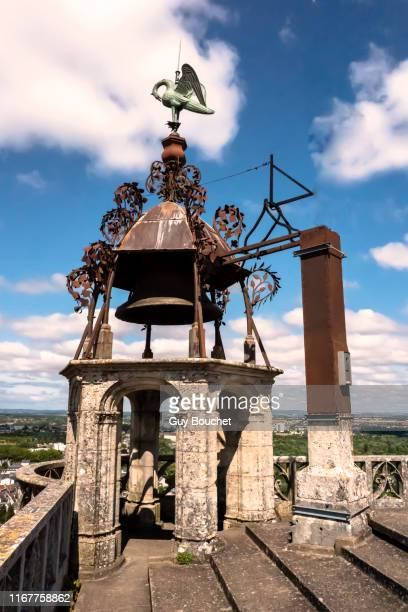 europe, france, cher, bourges, saint etienne cathedral, steeple with a pelican at the top - cher stock pictures, royalty-free photos & images