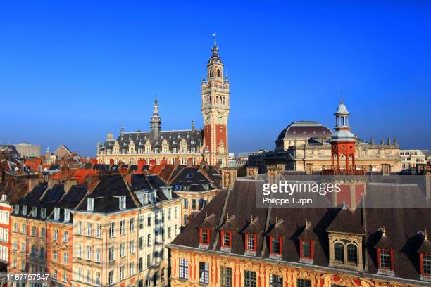 europe, france, hauts de france, lille. historic center - lille,_france stock pictures, royalty-free photos & images